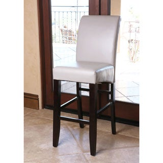 ABBYSON LIVING Venice Gray Leather Barstool