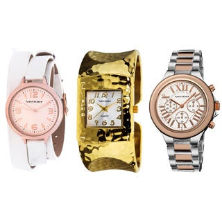 Vernier Women's 3-piece Watch Set with Jewelry Box
