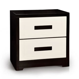 Furniture of America Seleness Contemporary Duo-tone Nightstand