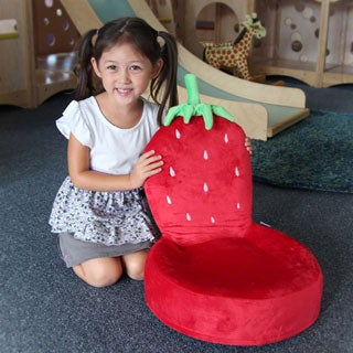 Critter Cushions Strawberry Children's Chair