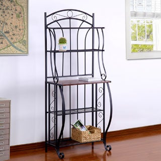 Adeco Black Metal 5-shelf Baker's Rack