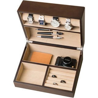 Hives & Honey Rich Walnut Watch Box and Valet