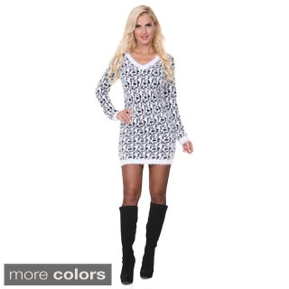 White Mark Women's Angora Sweater Dress