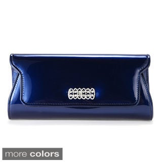 Anladia Crystal-studded Magnetic Flap Clutch