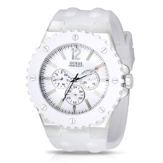 Guess Men's W10603G1 Overdrive White Chronograph Watch
