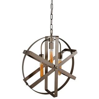 Varaluz Reel 3-light Rustic Bronze Pendant