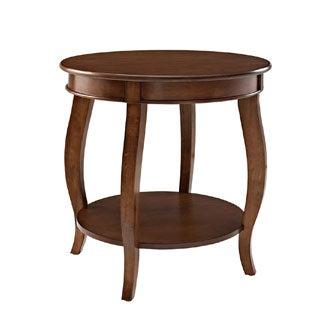 Oh! Home Seaside Hazelnut Round Table with shelf