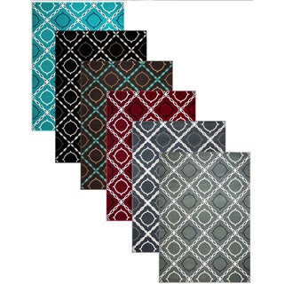 Admire Home Living Demi Trellis Area Rug (3'3 x 4'11)
