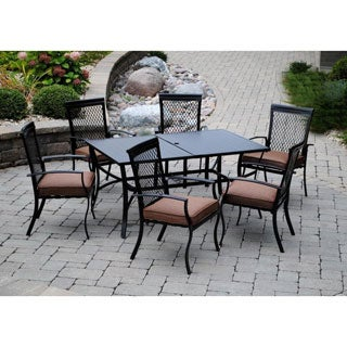 Sun Casual Chesterfield 7-piece Outdoor Dining Set