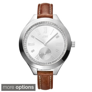 JBW Women's Aria Diamond Skinny Leather Strap Watch