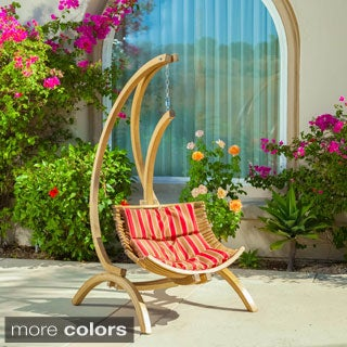 Christopher Knight Home Topanga Wooden Outdoor Hanging Chair