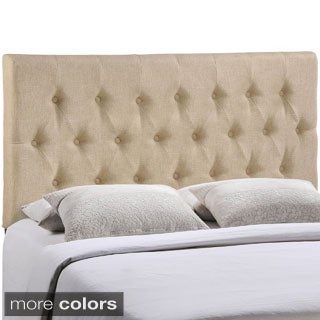 Modway Clique Upholstered Button Tufted Grey Headboard