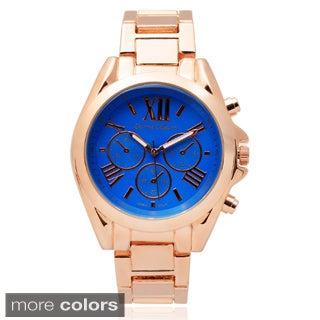 Journee Collection Women's Stainless Steel Chronograph Link Watch