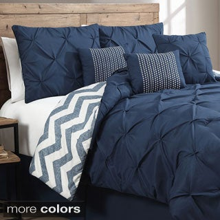 Ella Pinch Pleat Reversible 7-piece Comforter Set