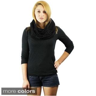 Le Nom Vintage Crochet Infinity Scarf