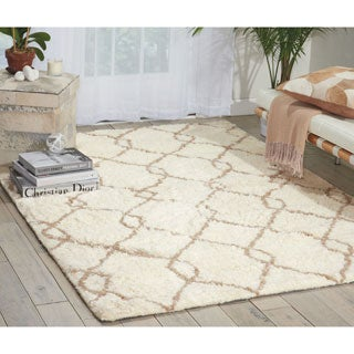 Nourison Galway Ivory/Tan Shag Area Rug (5' x 7')