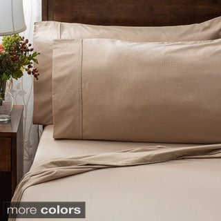 Impressions Embossed Wrinkle-resistant Crocodile Print Sheet Set