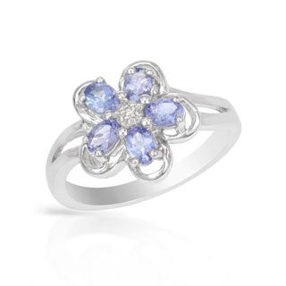 Tanzanites in .925 Sterling Silver Ring