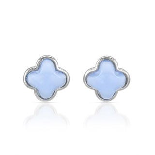 Chateau Dargent Blue Chalcedonies in Sterling Silver Earrings