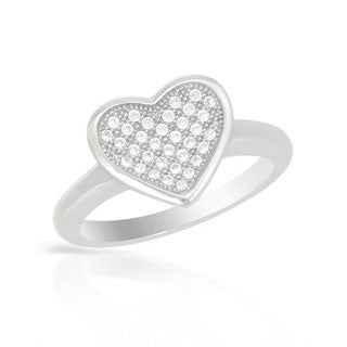 Heart Ring with Cubic Zirconia in .925 Sterling Silver