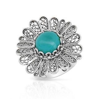 Cocktail Ring with Turquoise in .925 Sterling Silver