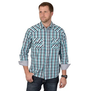 Boston Traveler Men's Long Sleeve Plaid Button-up Shirts