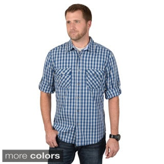Boston Traveler Men's Long Sleeve Checkered Button-up Shirts