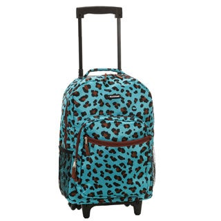 Rockland Leopard 17-inch Rolling Carry-On Backpack