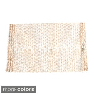 Jute Design Table Runner (set of 1) or Placemats (set of 4)
