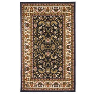 Gallery Traditional Oriental Black Area Rug (5' x 8')