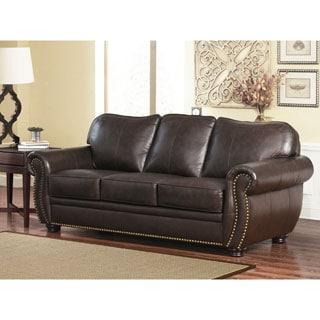 ABBYSON LIVING Richfield Top Grain Leather Sofa