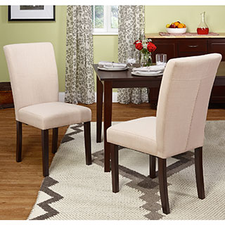 Simple Living Vinnie Parson Beige Chair (Set of 2)