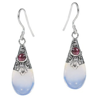 Gorgeous Moonstone Teardrop Sterling Silver Dangle Earrings (Thailand)