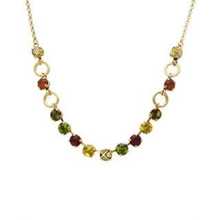 Pilgram Skanderborg Goldtone Multicolor Crystal Necklace
