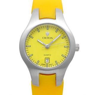 Croton Women's CA201052SSYL Yellow Rubber Quartz Watch