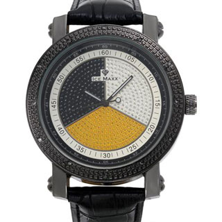 Ice Maxx Men's Black Leather Quartz Watch