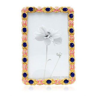 Yellow/ Multicolor Metal and Enamel Frame