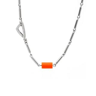 BK-Up by Baraka Stainless Steel and Rubber Necklace