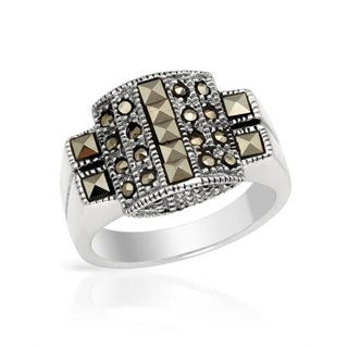 Ring with Marcasites of .925 Sterling Silver