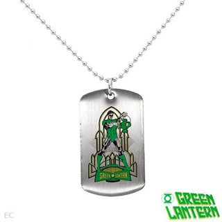GREEN LANTERN Necklace in Stainless Steel