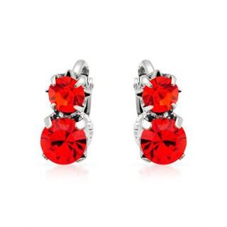 Pilgrim Skanderborg Red Crystal Earrings