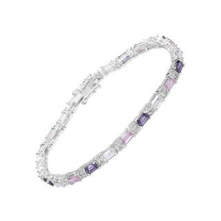 Tennis Bracelet with 27.9ct TW Cubic Zirconia of 925 Sterling Silver