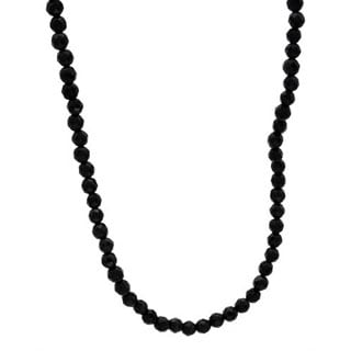 Sigal Necklace with Onyxes in .925 Sterling Silver