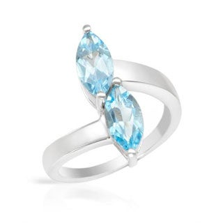 Ring with 2.2ct TW Topazes in .925 Sterling Silver