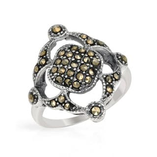 Ring with Marcasites .925 Sterling Silver