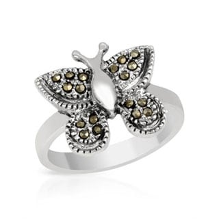 Ring with Marcasites in .925 Sterling Silver