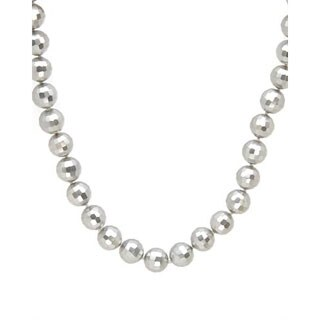 MISAKI Necklace with 10mm Freshwater Pearls in Stainless Steel