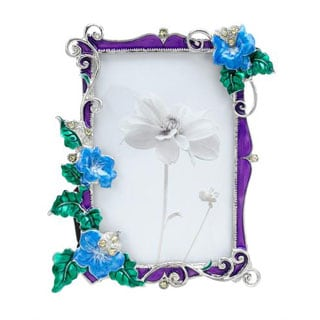 Silver/ Multicolor Metal and Enamel Frame