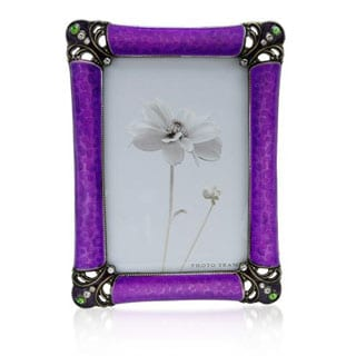 Two-tone/ Purple Metal and Enamel Frame
