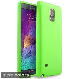 INSTEN Plain Colorful Jelly TPU Cover Case For Samsung Galaxy Note 4 SM-N910